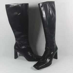 Nine West  black leather pre-owned boots
